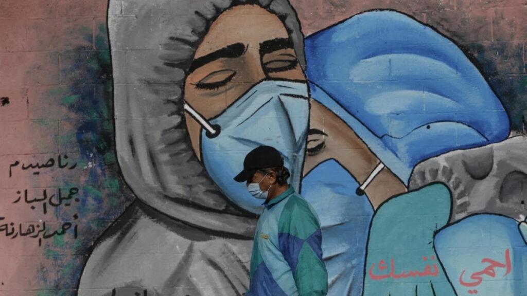 Γκράφιτι στη Γάζα για την πανδημία