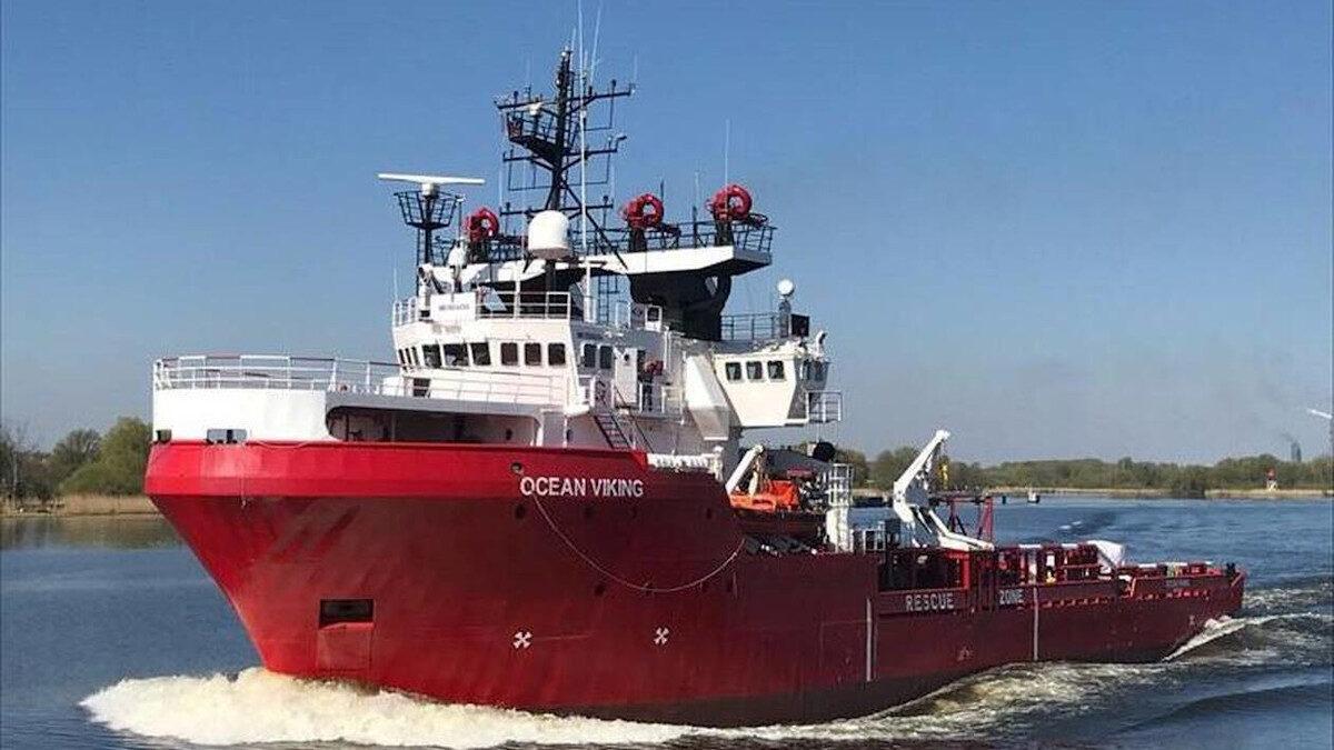 """Το διασωστικό πλοίο Ocean Viking της ΜΚΟ """"SOS Méditerranée"""""""