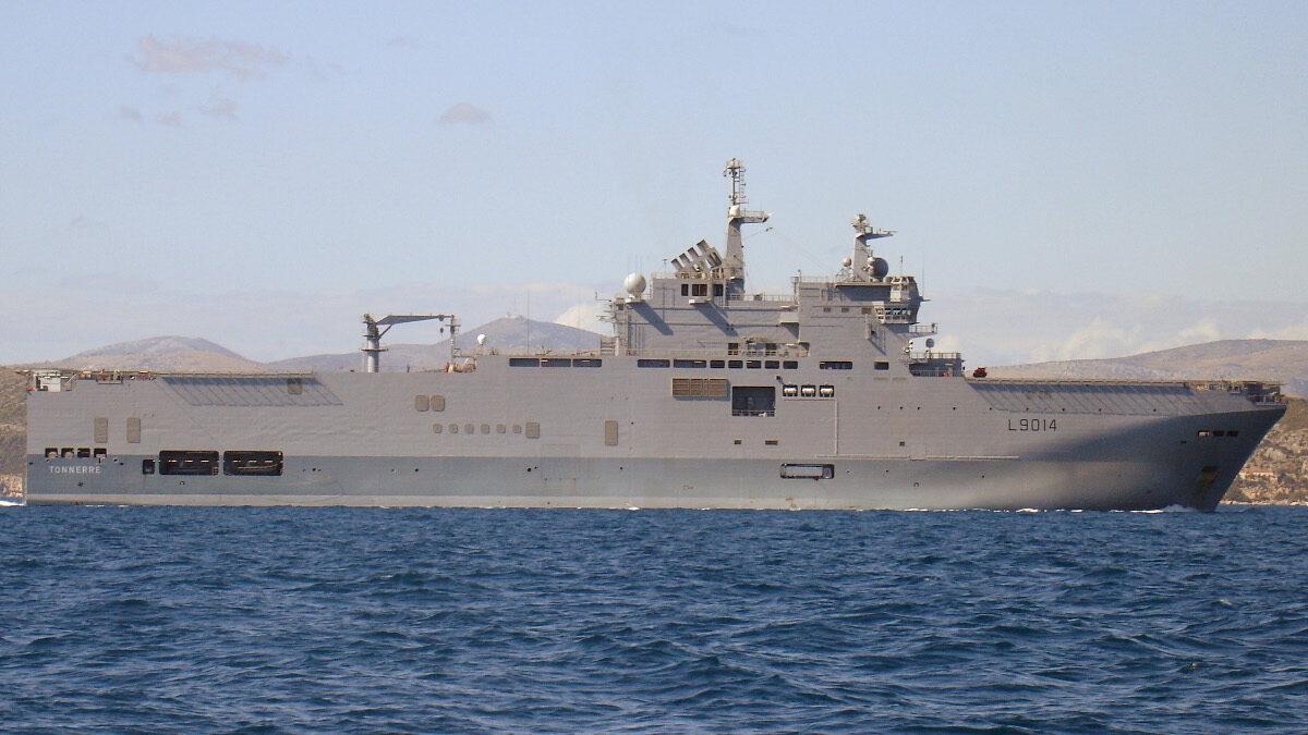 Αμφίβιο Ελικοπτεροφόρο LHD TONNERRE (L9014) του Γαλλικού Πολεμικού Ναυτικού