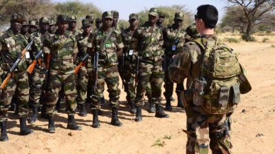 Γάλλοι στρατιωτικοί εκπαιδεύουν Νιγηριανού στρατιώτες - 2014
