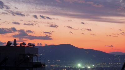 Αθήνα Ηλιοβασίλεμα Σύννεφα