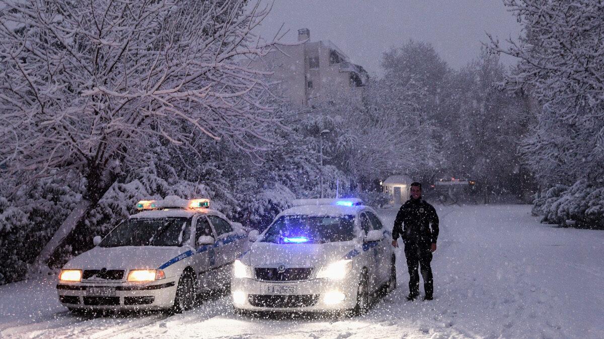 Αστυνομικοί στην Πλάκα, Αθήνα - 16-2-2021
