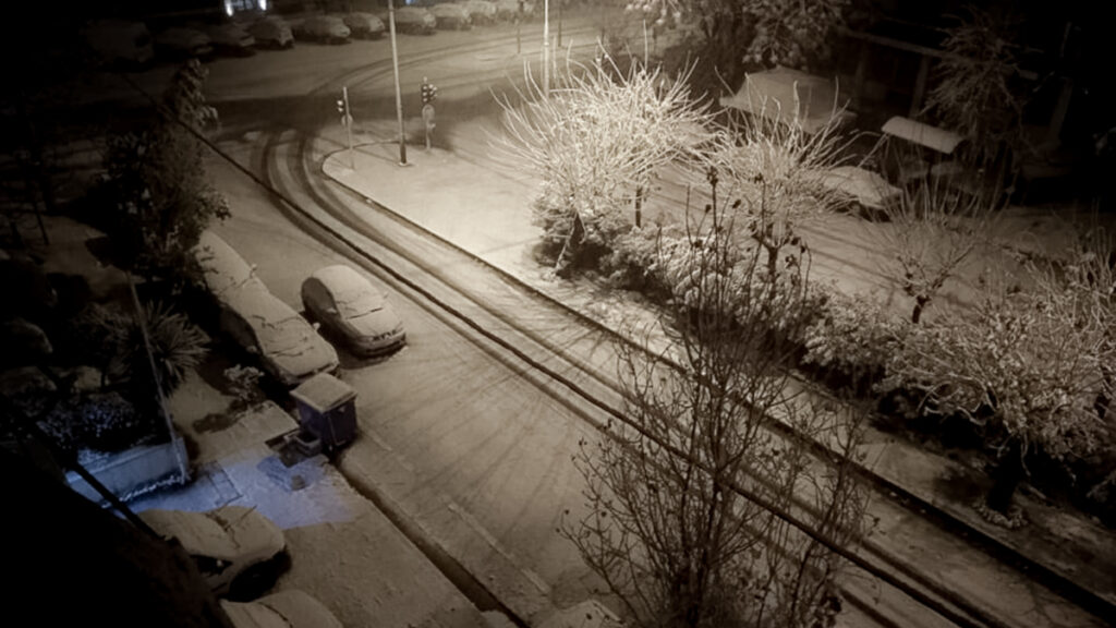 Χιονισμένη Αθήνα - 16 Φλεβάρη 2021 - Γκύζι
