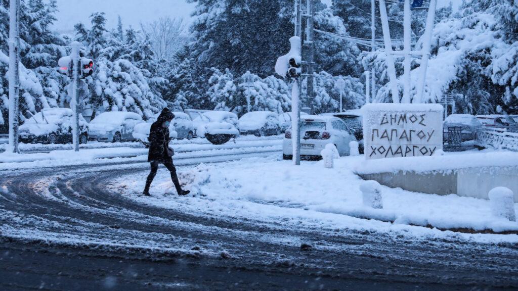 Χιονισμένη Αθήνα - 16 Φλεβάρη 2021 - Παπάγου