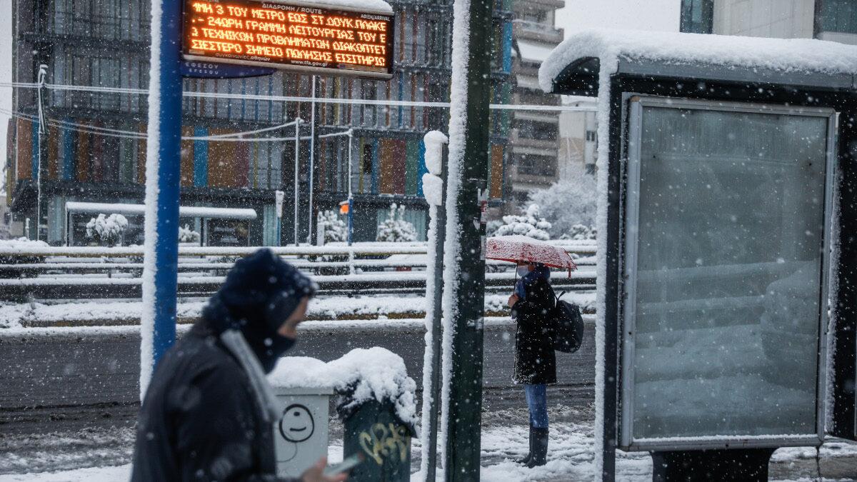 Χιόνια στην Αθήνα - Λεωφόρος Συγγρού