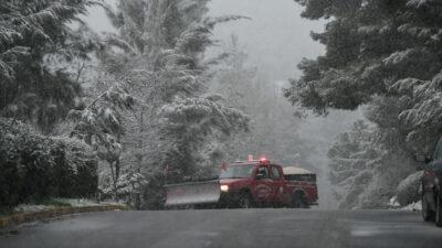 Χιόνια στο Διόνυσο Αττικής