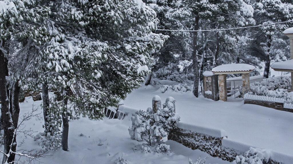Χιονισμένη Αθήνα - 16 Φλεβάρη 2021 - Ιπποκράτειος Πολιτεία