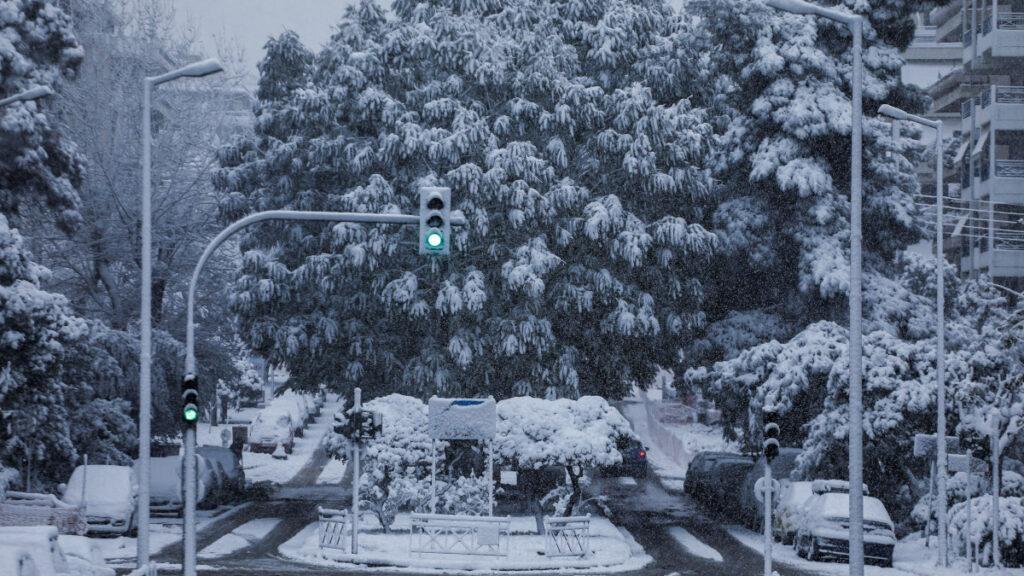 Χιόνια στην Αθήνα - Νέα Σμύρνη