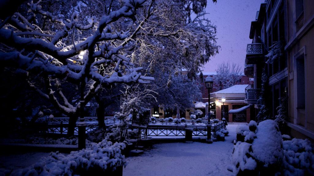 Χιονισμένη Αθήνα - 16 Φλεβάρη 2021 - Πλάκα