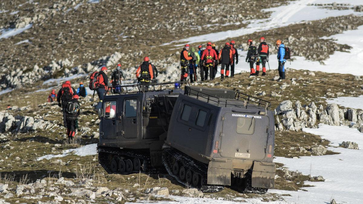 Απ' τις έρευνες για τον εντοπισμό του αεροσκάφους που κατέπεσε στο όρος Μιτσικέλι στα Ιωάννινα