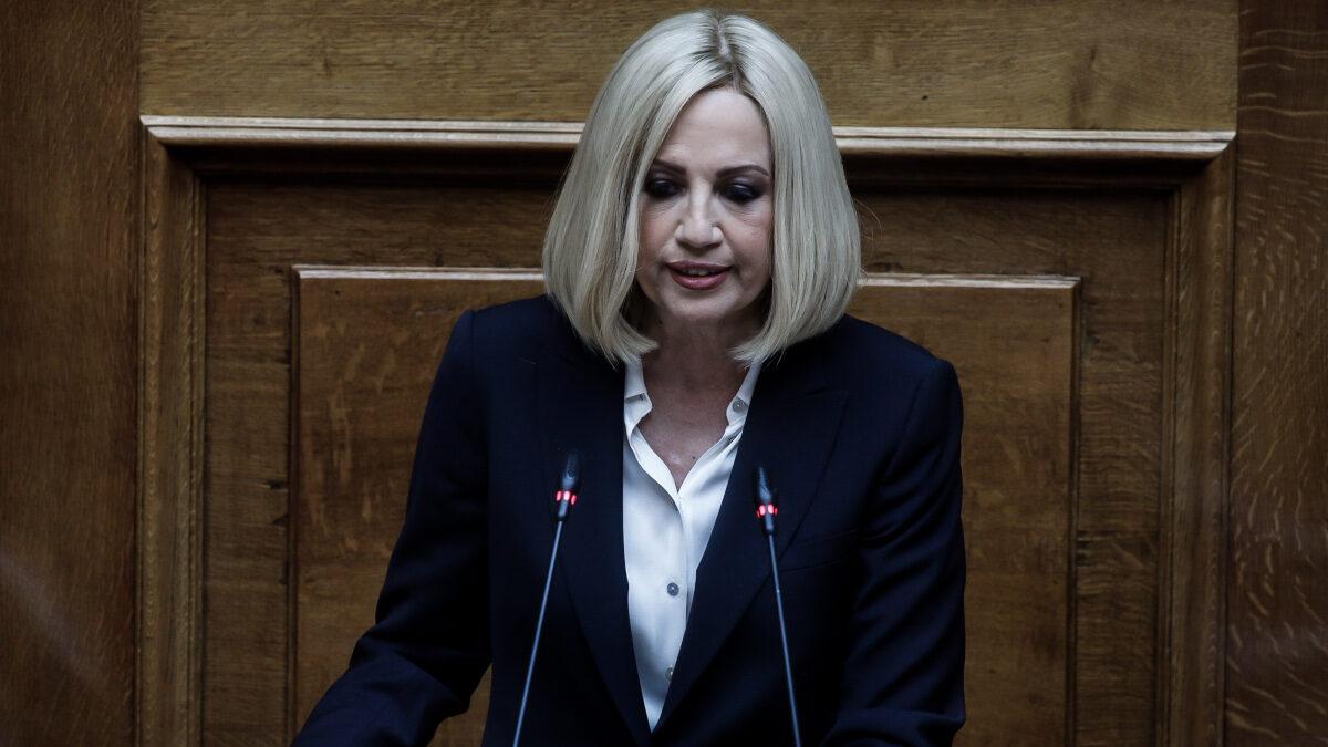 Η πρόεδρος του ΚΙΝΑΛ, Φώφη Γεννηματά, στη συζήτηση στη Βουλή για την υπόθεση Λιγνάδη