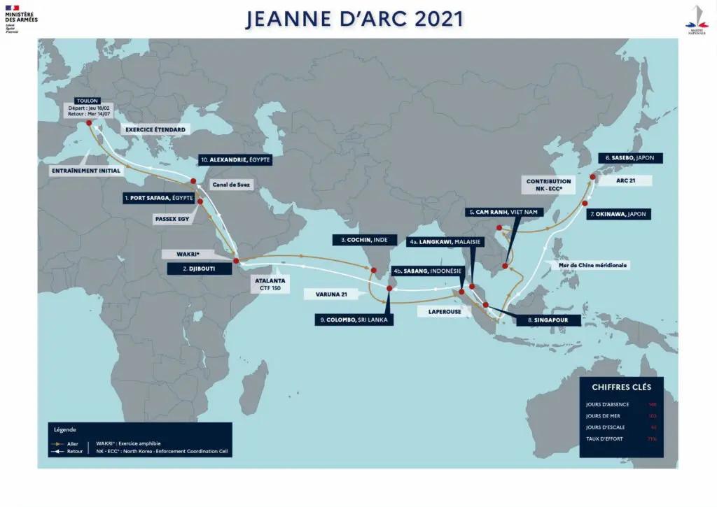 """Επιχείρηση """"jeanne-darc-2021"""" του Πολεμικού Ναυτικού της Γαλλίας"""