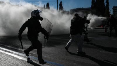 Στιγμιότυπο απ' το πανεκπαιδευτικό συλλαλητήριο ενάντια στο νόμο Κεραμέως - Χρυσοχοΐδη