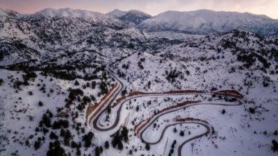 Ομαλός - Ορεινά Περιφερειακής Ενότητας Χανίων με χιόνια