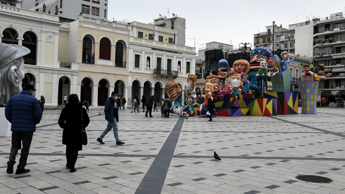 Η Πάτρα στολισμένη για το Πατρινό Καρναβάλι του 2021
