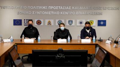 """Πολιτική Προστασία - Υπουργείο Δημόσιας Τάξης - Συνέντευξη για την ετοιμότητα μπροστά στην Κακοκαιρία """"ΜΗΔΕΙΑ"""" - 14/2/2021"""