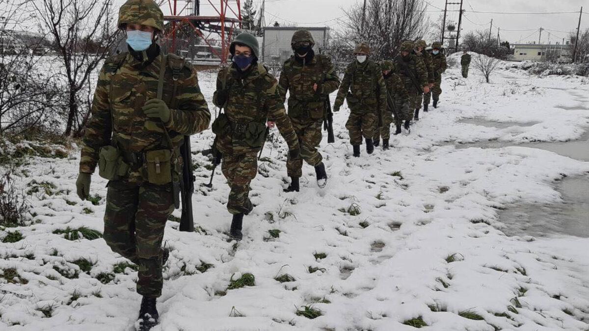 Στρατιώτες - Χειμερινή εκπαίδευση ΄Δ Σώματος Στρατού - Θράκη - Γενάρης 2021