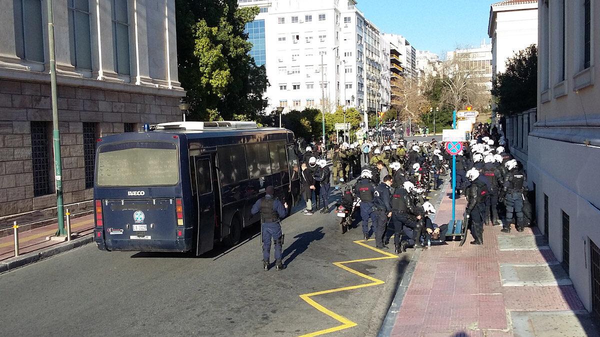 Προσαγωγές φοιτητών μετά το συλλαλητήριο την Τετάρτη 10/02/2021