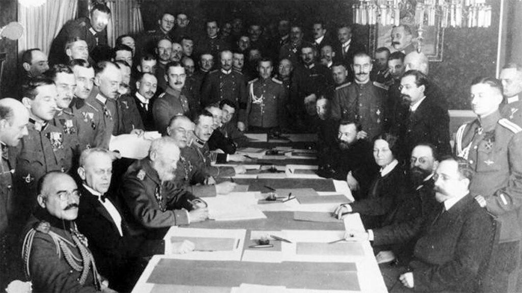 Α΄ΠΠ - ΕΣΣΔ - Γερμανία - «Συνθήκη Ειρήνης» Μπρεστ-Λιτόφσκ