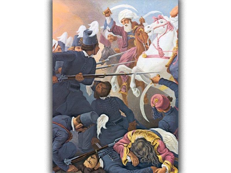 Ελληνική Επανάσταση 1821 - Πολιτισμός - Ζωγραφική - Η μάχη του Δραγατσανίου