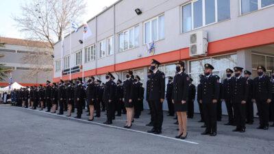 Τελετή αποφοίτησης της 85ης εκπαιδευτικής σειράς στη Σχολή Πυροσβεστών στο παράρτημα Πτολεμαΐδας
