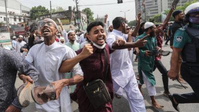 Διαδηλώσεις στο Μπαγκλαντές ενάντια στην επίσκεψη του Ινδού πρωθυπουργού