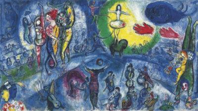 Πίνακας Ζωγραφικής του Μαρκ Σαγκάλ «Το Μεγάλο Τσίρκο / Marc Chagall LE GRAND CIRQUE 1956