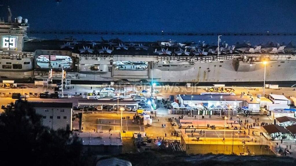Αεροπλανοφόρο «USS Dwight D. Eisenhower» των ΗΠΑ στη Βάση της Σούδας