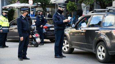 Έλεγχοι της αστυνομίας στην Πάτρα για την μετακίνηση εν μέσω Lockdown