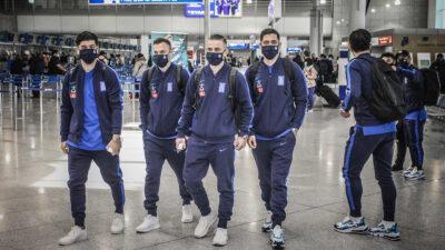 Εθνική Ομάδα Ποδοσφαίρου Ελλάδας στο Αεροδρόμιο Αθηνών αναχωρεί για Ισπανία - 24/3/2021