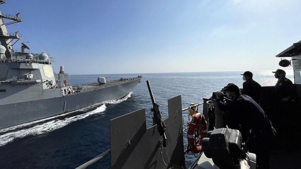 Περσικός Κόλπος - Μάρτιος 2021 - Συνεκπαίδευση Φρεγάτας Ύδρα με Αντιτορπιλικό USS JOHN PAUL JONES των ΗΠΑ