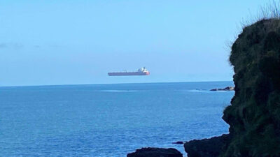 """""""Ιπτάμενο πλοίο"""" στα ανοικτά της Αγγλίας"""