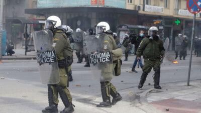 Δυνάμεις των ΜΑΤ στη Θεσσαλονίκη
