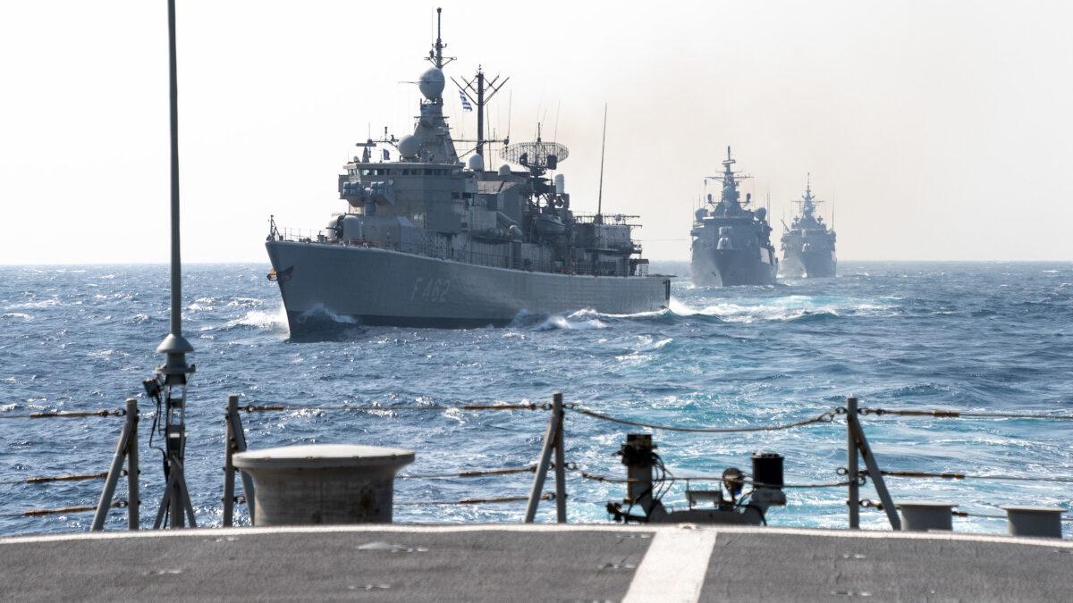 Φρεγάτες Ψαρά (F454) και Κουντουριώτης (F462) σε συνεκπαίδευση με την SNMG2 δυτικά της Κρήτης - Μάρτιος 2021