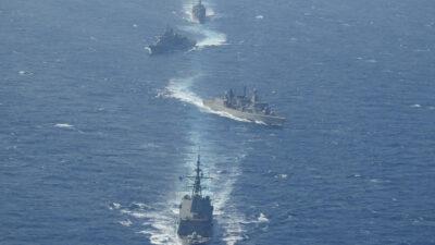 Πολεμικό Ναυτικό - ΝΑΤΟ - Φρεγάτες Ψαρά (F454) και Κουντουριώτης (F462) σε συνεκπαίδευση με την SNMG2 δυτικά της Κρήτης - Μάρτιος 2021