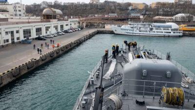 Η 2η Νατοϊκή αρμάδα ναρκοπολέμου SNMCMG2 στο λιμάνι της Οδησσού υπό τουρκική διοίκηση