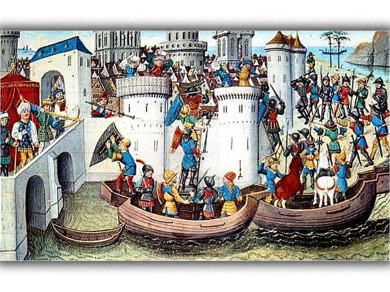 Βυζάντιο - Κωνσταντινούπολη - Δ' Σταυροφορία - άλωση, 1204