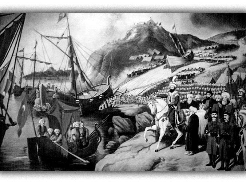 Βυζάντιο - Κωνσταντινούπολη - πολιορκία, 1453 - Φλαντανελλάς