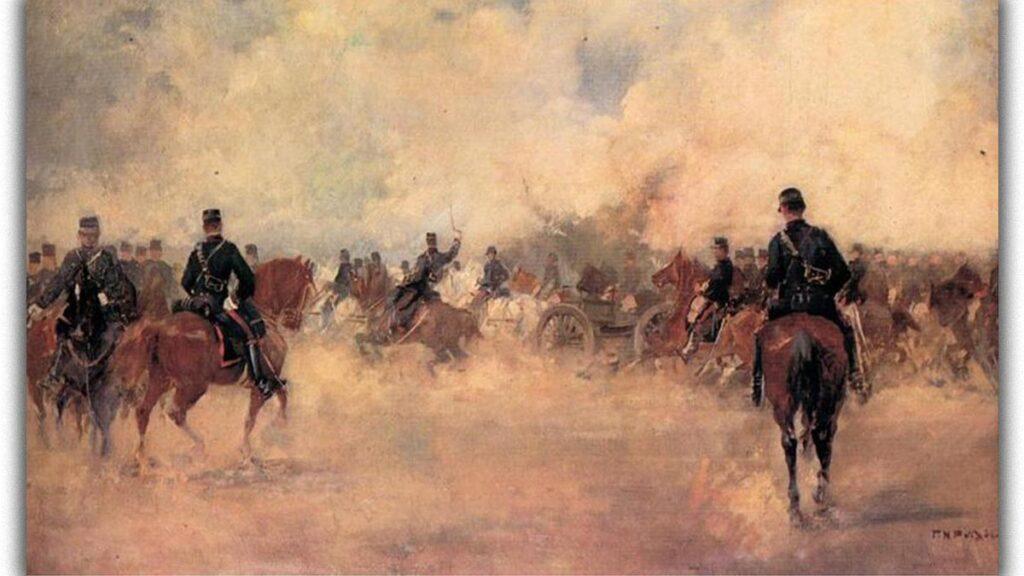 Πολιτισμός - Ζωγραφική - Γεώργιος Ροϊλός - μάχη των Φαρσάλων - Ελληνοτουρκικός Πόλεμος, 1897