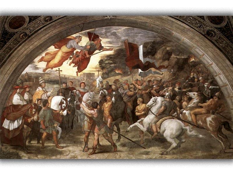 Πολιτισμός - Ζωγραφική - Ραφαήλ - Αττίλας - Πάπας Λέων Α'