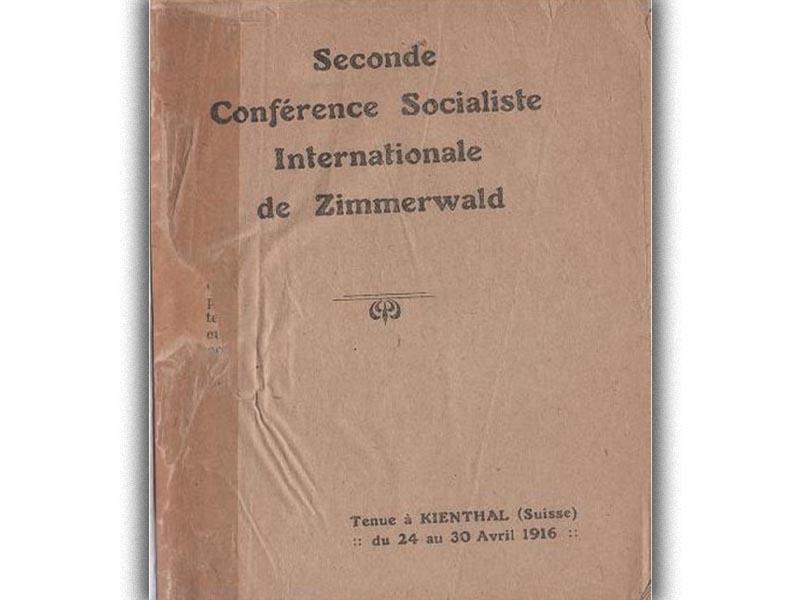 Αριστερά του Τσίμερβαλντ - συνδιάσκεψη στο Κίνταλ, 1916