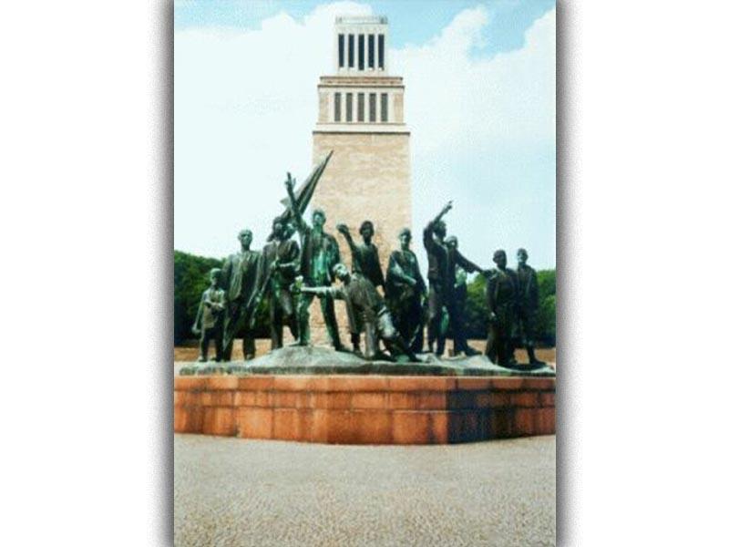 Β'ΠΠ - Ναζιστική Γερμανία - Στρατόπεδα συγκέντρωσης - Μπούχενβαλντ - μνημείο της εξέγερσης