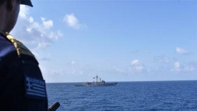 Κατάπλους Φ/Γ ΝΑΒΑΡΙΝΟΝ στον Λιμένα Αλεξάνδρειας Αιγύπτου, Συνεργασία με Μονάδες του Αιγυπτιακού Ναυτικού