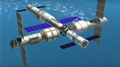 Καλλιτεχνική απεικόνιση του Κινεζικού διαστημικού σταθμού «Τιανχε» (Αρμονία των Ουρανών) που θα τεθεί σε τροχιά ως το 2022