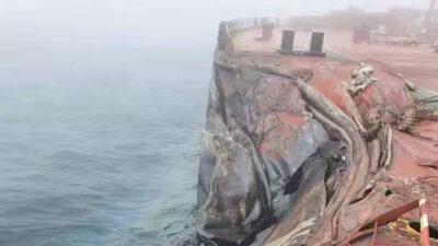 Σύγκρουση δεξαμενόπλοιου στην Κίνα