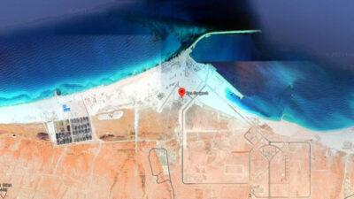 Η περιοχή του Γκάργκουπ που γίνονται τα έργα δημιουργίας Ναυτικής Βάσης του Βόρειου Στόλου της Αιγύπτου