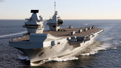 Το αεροπλανοφόρο της Μ. Βρετανίας HMS QUEEN ELIZABETH (R08) στο Γιβραλτάρ το 2018