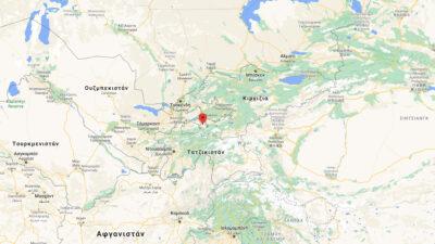 Χάρτης της Κεντρικής Ασίας με το επίκεντρο των πολεμικών συγκρούσεων Τατζικιστάν - Κιργιζίας στη περιοχή του Μπαντκεν