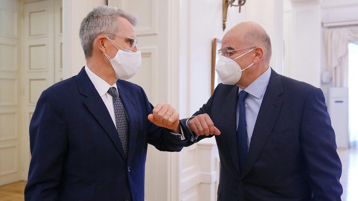 Συνάντηση του υπουργού Εξωτερικών, Ν. Δένδια με τον Αμερικανό Πρέσβη, Τζ. Πάιατ
