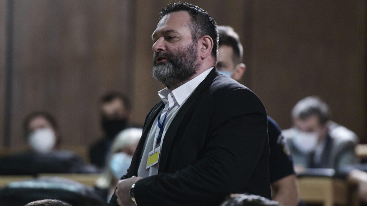 Γιάννης Λαγός, Ναζί, εγκληματίας, στέλεχος της Χρυσής Αυγής - Εδώ κατά τη διάρκεια της δίκης στο Εφετείο 2019